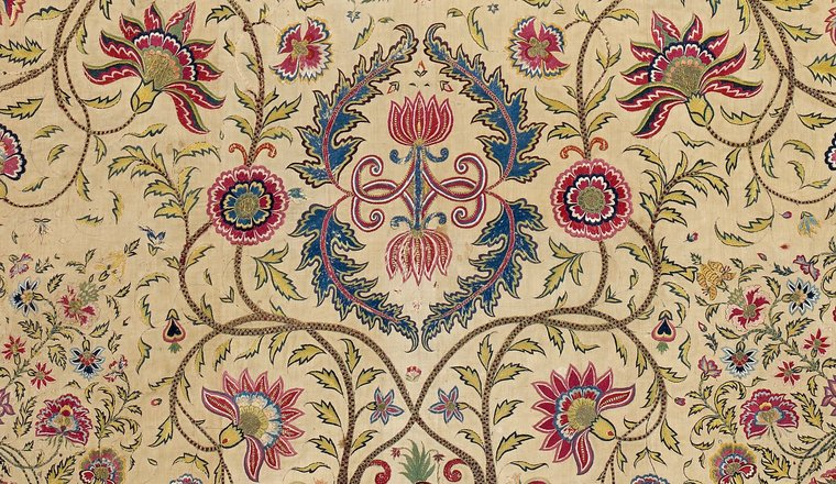 <em>Embroidered Floorspread</em>, Deccan, for courtly domestic or export market, 1750–1790