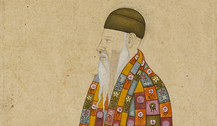 <em>Portrait of the Sufi mystic Shah Daula</em>, Mughal, late 17th century