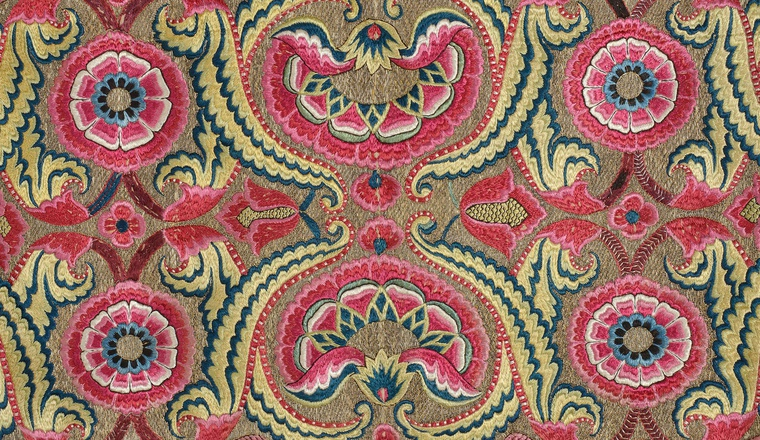 <span class=&#34;title&#34;>Floorspread or Cover<span class=&#34;title_comma&#34;>, </span></span><span class=&#34;year&#34;>India, Deccan, for the Ottoman market, 1750-1800</span>