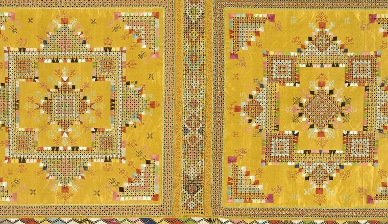 <span class=&#34;title&#34;>Moroccan Yellow Silk Double-Sided Embroidery<span class=&#34;title_comma&#34;>, </span></span><span class=&#34;year&#34;>Possibly Meknes District, 19th century</span>